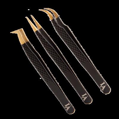 Set Zwarte Tweezers (3x)