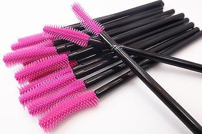 Siliconen wimperborstel (20st) zwart/roze