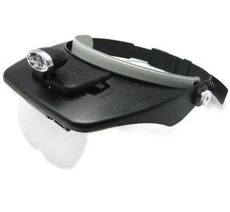 hoofdband met vergrootglas