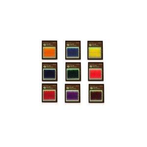 gekleurde wimperextensions, color wimperextensions